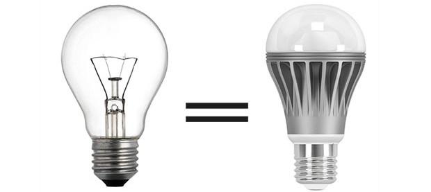 Расчет мощности светодиодных ламп